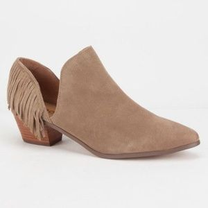 Report Ignatious Suede Fringe Ankle Boots Size 6